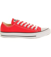Converse All Star Low Top Trainers Red Canvas