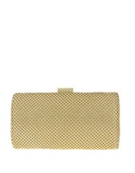 Nina Kenney Metal Mesh Framed Clutch Gold Mesh