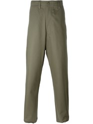 E. Tautz 'Corefield' Wide Leg Trousers Green
