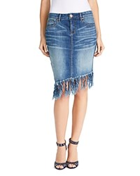 William Rast Denim Fringe Skirt Pandora Love