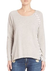 Generation Love Ridge Lace Up Sweatshirt Grey