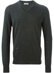 Christian Dior Dior Homme Fly Motif Embroidery Sweater Grey