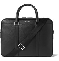 Hugo Boss Signature Cross Grain Leather Briefcase Black