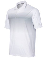 Greg Norman For Tasso Elba Men's Ombre Performance Polo Only At Macy's Bright White