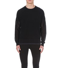 Allsaints Arden Cotton Knit Jumper Inknavy