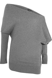 Tom Ford Off The Shoulder Cashmere Sweater Gray
