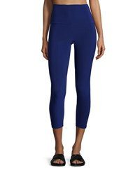 Norma Kamali Solid Stretch Leggings Blueberry