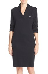 Women's Lauren Ralph Lauren 'Emsworth' Cotton Nightgown Black