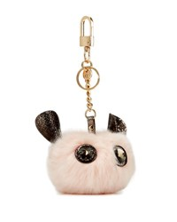 Neiman Marcus Critter Pompom Key Chain Blue