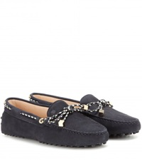 Tod's Heaven Laccetto Scooby Doo Suede Loafers Blue