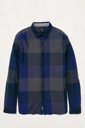 Cpo Exploded Plaid Button Down Shirt Dark Blue