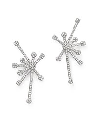 Kc Designs Diamond Starburst Earrings In 14K White Gold