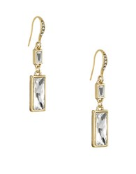 Laundry By Shelli Segal Hollywood And Vine Baguette Double Drop Earrings Gold