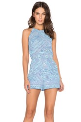 Eight Sixty Indian Henna Romper Blue