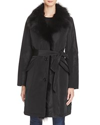 Maximilian Furs Fox Fur Collar Down Coat Bloomingdale's Exclusive Black