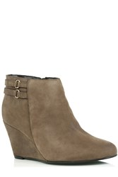 Oasis Mia Wedge Boot Neutral
