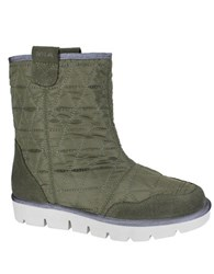 Mia Terance Athleisure Quilted Booties Olive