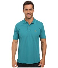 Lacoste L1212 Classic Pique Polo Shirt Emerald Men's Short Sleeve Knit Green