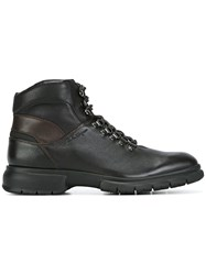 Salvatore Ferragamo Lace Up Hiking Boots Brown