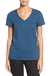 Caslonr Women's Caslon Graphic Burnout V Neck Tee
