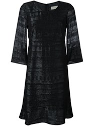 L'autre Chose Metallic Detail Knit Dress Black