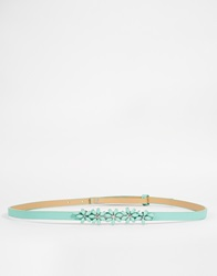 Johnny Loves Rosie Flora Belt Mintgreen