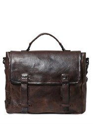 A.S.98 Vintage Effect Leather Briefcase