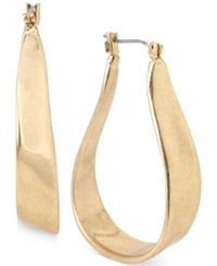 Kenneth Cole New York Gold Tone Organic Hoop Earrings