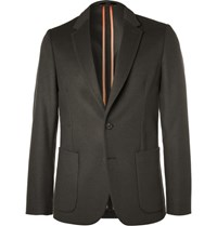 Paul Smith Slim Fit Unstructured Wool And Cashmere Blend Blazer Gray