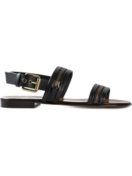 Giuseppe Zanotti Design Zip Detail Strappy Sandals Black