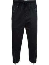 Publish Cropped Zipped Leg Trousers Black
