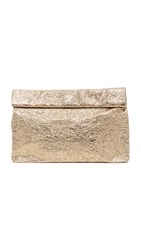 Marie Turnor Accessories Foil Lunch Clutch Antique Gold
