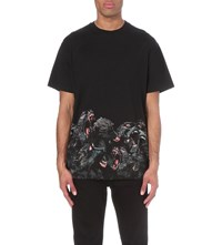 Givenchy Screeching Monkey Print Cotton Jersey T Shirt Black