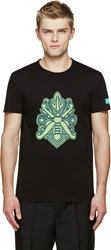 Marc By Marc Jacobs Black Mad Mask T Shirt