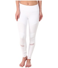Alo Yoga Moto Leggings White Women's Casual Pants