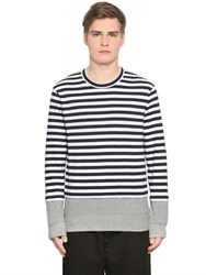 Comme Des Garcons Stripe Cotton Jersey Long Sleeve T Shirt