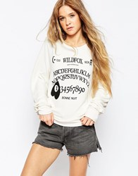 Wildfox Couture Wildfox Ouija Baggy Beach Jumper White