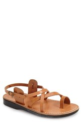 Men's Jerusalem Sandals 'The Good Shepherd' Leather Slide Sandal Tan Leather