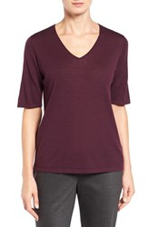 Eileen Fisher Women's Featherweight Luxe Merino Wool V Neck Sweater