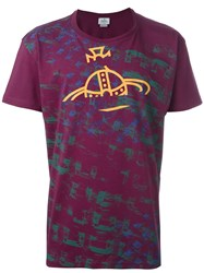 Vivienne Westwood Man Logo Print T Shirt Pink And Purple