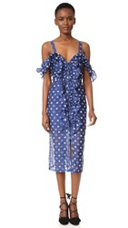 Alice Mccall Light Garden Dress Blueberry Daisy