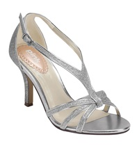 Paradox London Pink Strappy Glitter Vibrant Sandals Silver