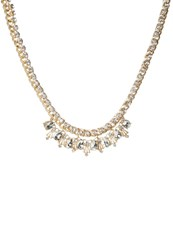 Banana Republic Necklace Clear Crystal Gold