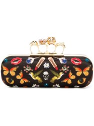 Alexander Mcqueen 'Knuckle' Long Box Clutch Black