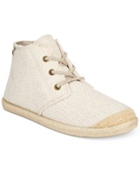 Roxy Flamenco Woven High Top Sneakers Women's Shoes Cream