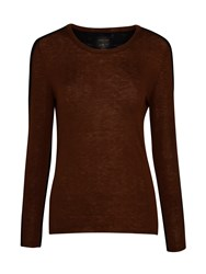 Marc Cain Two Tone Jumper Coffee