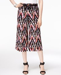 Ny Collection Printed Culotte Pants Red Black White
