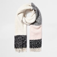 River Island Womens Cream Tartan Blanket Scarf