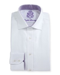 English Laundry Pinstripe Cotton Dress Shirt White