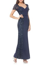 Js Collections Women's Stretch Mermaid Gown